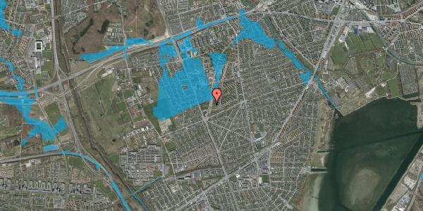 Oversvømmelsesrisiko fra vandløb på Arnold Nielsens Boulevard 155, 1. th, 2650 Hvidovre