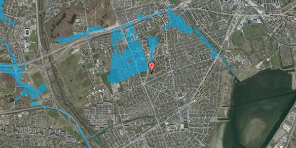 Oversvømmelsesrisiko fra vandløb på Arnold Nielsens Boulevard 155, 2. tv, 2650 Hvidovre