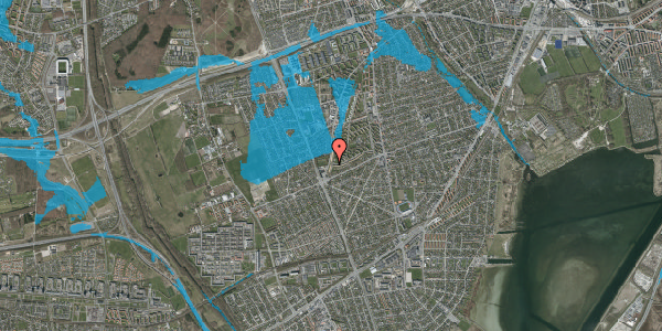 Oversvømmelsesrisiko fra vandløb på Arnold Nielsens Boulevard 161, 3. th, 2650 Hvidovre