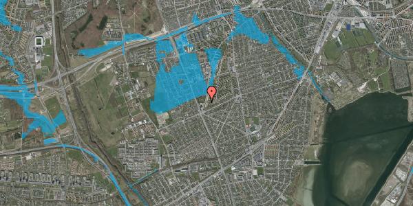 Oversvømmelsesrisiko fra vandløb på Arnold Nielsens Boulevard 163, st. tv, 2650 Hvidovre