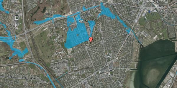 Oversvømmelsesrisiko fra vandløb på Arnold Nielsens Boulevard 163, 2. th, 2650 Hvidovre