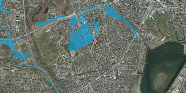 Oversvømmelsesrisiko fra vandløb på Arnold Nielsens Boulevard 163, 2. tv, 2650 Hvidovre