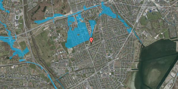 Oversvømmelsesrisiko fra vandløb på Arnold Nielsens Boulevard 169, 1. tv, 2650 Hvidovre