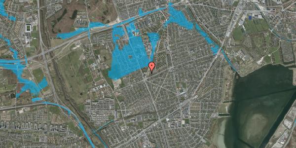 Oversvømmelsesrisiko fra vandløb på Arnold Nielsens Boulevard 171, 1. th, 2650 Hvidovre