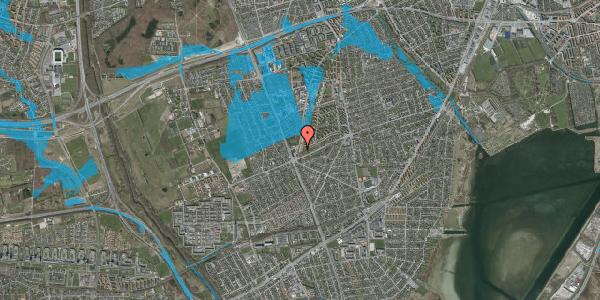 Oversvømmelsesrisiko fra vandløb på Arnold Nielsens Boulevard 173, st. tv, 2650 Hvidovre