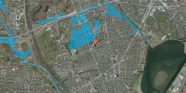 Oversvømmelsesrisiko fra vandløb på Arnold Nielsens Boulevard 175, st. tv, 2650 Hvidovre