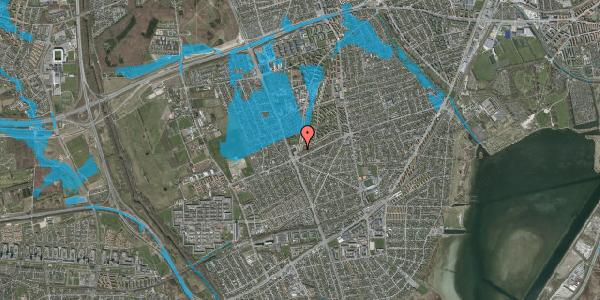 Oversvømmelsesrisiko fra vandløb på Arnold Nielsens Boulevard 175, 1. tv, 2650 Hvidovre