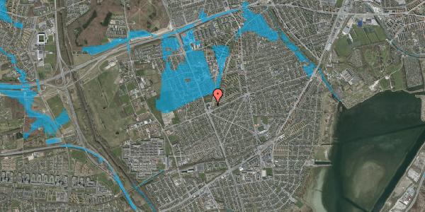 Oversvømmelsesrisiko fra vandløb på Arnold Nielsens Boulevard 177, st. tv, 2650 Hvidovre