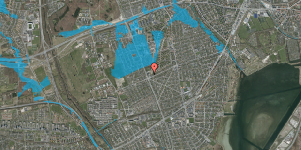 Oversvømmelsesrisiko fra vandløb på Arnold Nielsens Boulevard 179, 2650 Hvidovre