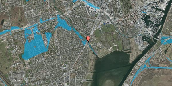 Oversvømmelsesrisiko fra vandløb på Asminderødvej 1, 1. 2, 2650 Hvidovre