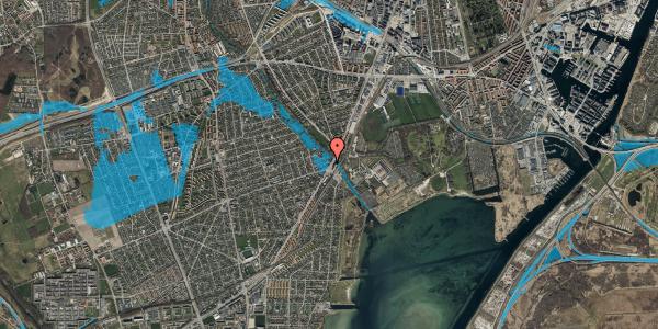 Oversvømmelsesrisiko fra vandløb på Asminderødvej 1, 1. 3, 2650 Hvidovre
