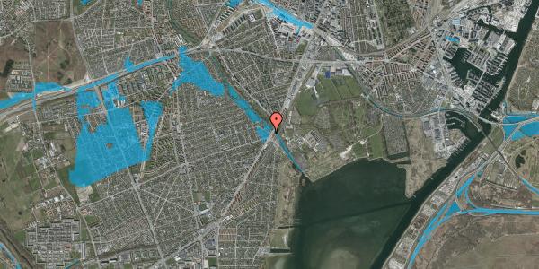 Oversvømmelsesrisiko fra vandløb på Asminderødvej 1, 2. 3, 2650 Hvidovre