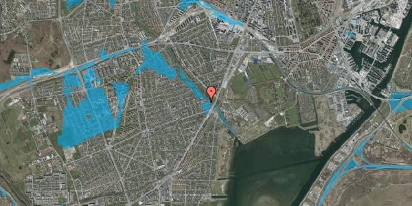 Oversvømmelsesrisiko fra vandløb på Asminderødvej 6B, 2650 Hvidovre