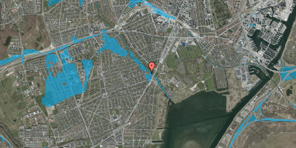 Oversvømmelsesrisiko fra vandløb på Asminderødvej 6C, 2650 Hvidovre