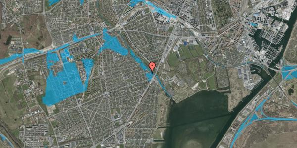 Oversvømmelsesrisiko fra vandløb på Asminderødvej 7, 2650 Hvidovre