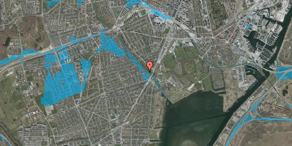 Oversvømmelsesrisiko fra vandløb på Asminderødvej 10, 2650 Hvidovre