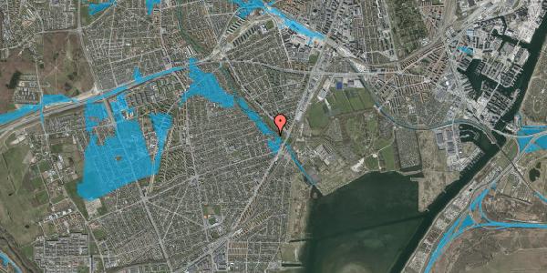 Oversvømmelsesrisiko fra vandløb på Asminderødvej 14, 2650 Hvidovre