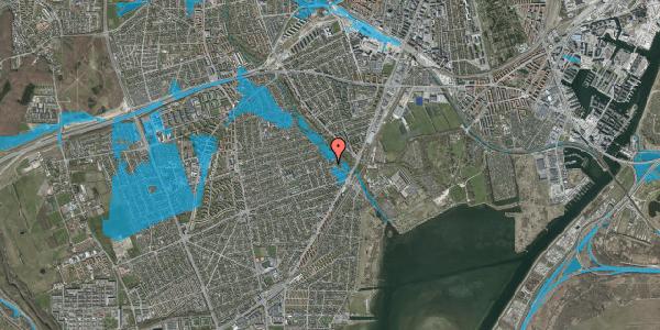 Oversvømmelsesrisiko fra vandløb på Asminderødvej 15, 2650 Hvidovre
