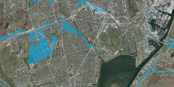 Oversvømmelsesrisiko fra vandløb på Asminderødvej 22, 2650 Hvidovre