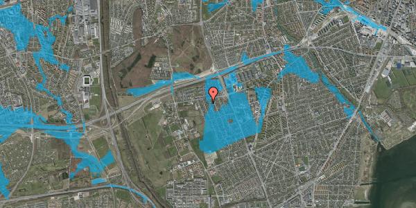 Oversvømmelsesrisiko fra vandløb på Avedøregårdsvej 10, 2650 Hvidovre