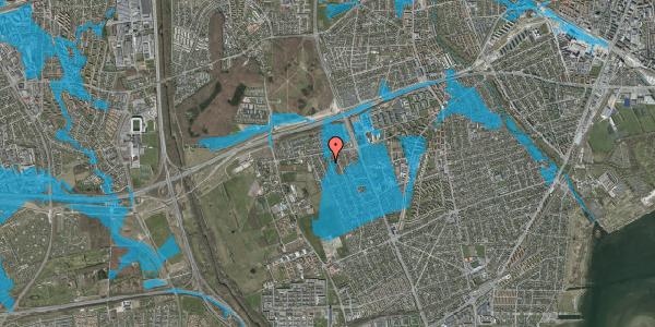Oversvømmelsesrisiko fra vandløb på Avedøregårdsvej 12, 2650 Hvidovre