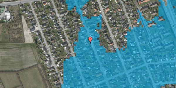 Oversvømmelsesrisiko fra vandløb på Avedøregårdsvej 24, 2650 Hvidovre