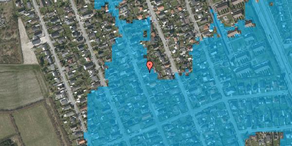 Oversvømmelsesrisiko fra vandløb på Avedøregårdsvej 25, 2650 Hvidovre