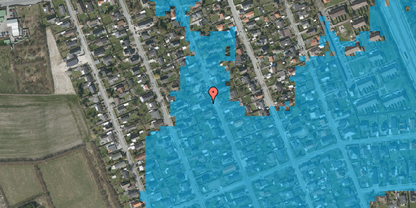 Oversvømmelsesrisiko fra vandløb på Avedøregårdsvej 26, 2650 Hvidovre