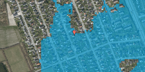 Oversvømmelsesrisiko fra vandløb på Avedøregårdsvej 29, 2650 Hvidovre