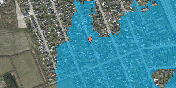 Oversvømmelsesrisiko fra vandløb på Avedøregårdsvej 32, 2650 Hvidovre