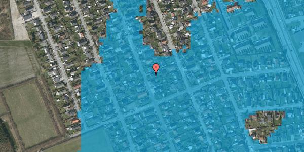 Oversvømmelsesrisiko fra vandløb på Avedøregårdsvej 33, 2650 Hvidovre
