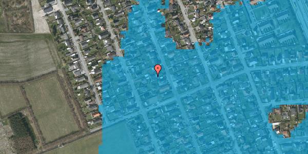 Oversvømmelsesrisiko fra vandløb på Avedøregårdsvej 36, 2650 Hvidovre