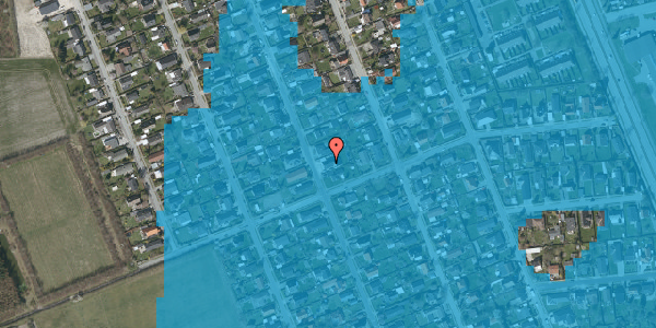 Oversvømmelsesrisiko fra vandløb på Avedøregårdsvej 37, 2650 Hvidovre