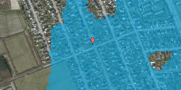 Oversvømmelsesrisiko fra vandløb på Avedøregårdsvej 42, 2650 Hvidovre