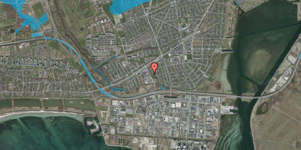 Oversvømmelsesrisiko fra vandløb på Batterivej 2A, 2650 Hvidovre