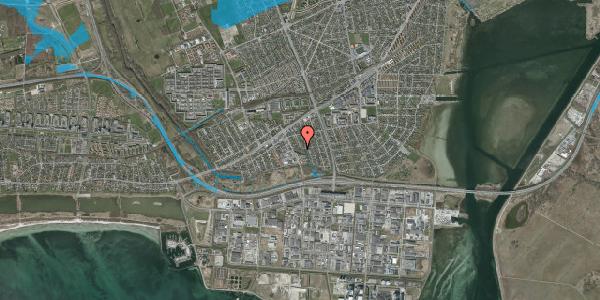Oversvømmelsesrisiko fra vandløb på Batterivej 8, 2650 Hvidovre