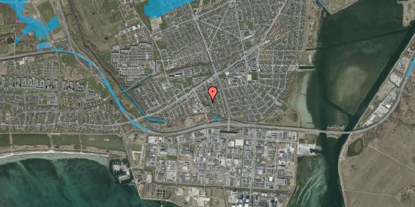 Oversvømmelsesrisiko fra vandløb på Batterivej 10A, 2650 Hvidovre