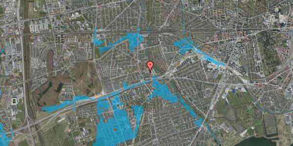 Oversvømmelsesrisiko fra vandløb på Baunebakkevej 4, st. , 2650 Hvidovre