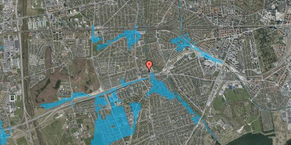Oversvømmelsesrisiko fra vandløb på Baunebakkevej 7, 2650 Hvidovre