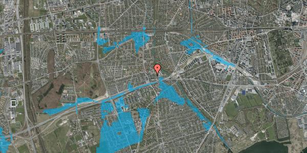 Oversvømmelsesrisiko fra vandløb på Baunebakkevej 17, 2650 Hvidovre