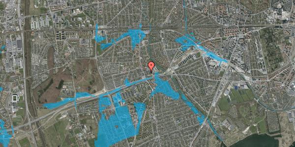 Oversvømmelsesrisiko fra vandløb på Baunebakkevej 83, 2650 Hvidovre