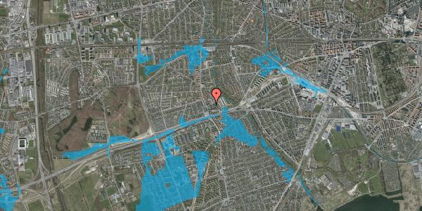 Oversvømmelsesrisiko fra vandløb på Baunebakkevej 131, 2650 Hvidovre