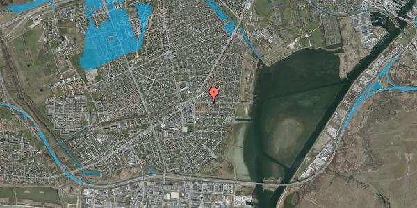 Oversvømmelsesrisiko fra vandløb på Bavnevej 2A, st. th, 2650 Hvidovre