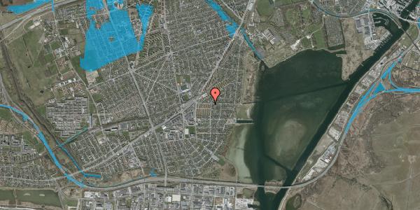 Oversvømmelsesrisiko fra vandløb på Bavnevej 2, 1. tv, 2650 Hvidovre