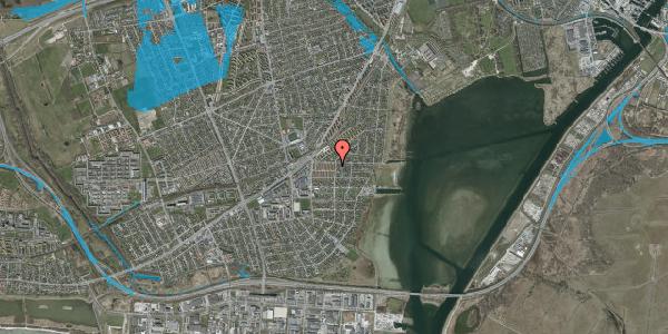 Oversvømmelsesrisiko fra vandløb på Bavnevej 4, st. tv, 2650 Hvidovre