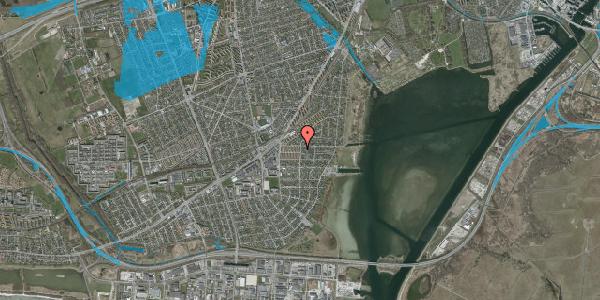 Oversvømmelsesrisiko fra vandløb på Bavnevej 4, 1. tv, 2650 Hvidovre