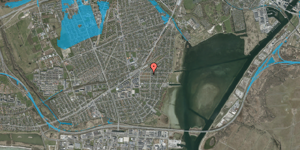 Oversvømmelsesrisiko fra vandløb på Bavnevej 8, 1. th, 2650 Hvidovre