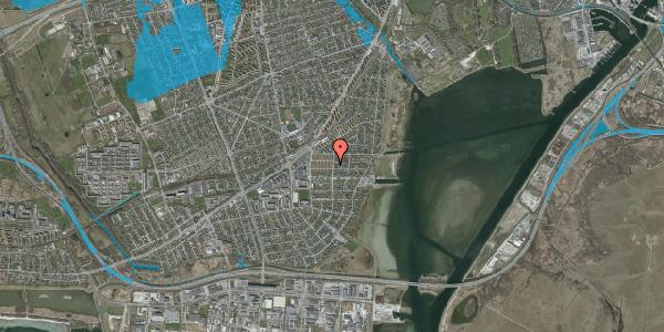 Oversvømmelsesrisiko fra vandløb på Bavnevej 14, st. th, 2650 Hvidovre