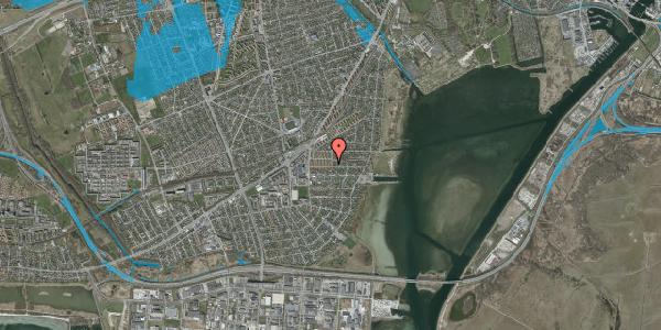 Oversvømmelsesrisiko fra vandløb på Bavnevej 16, st. tv, 2650 Hvidovre