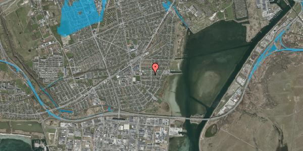 Oversvømmelsesrisiko fra vandløb på Bavnevej 19, 2650 Hvidovre